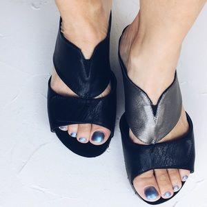 Modzori Gabbie Wedge T-Strap Sandal